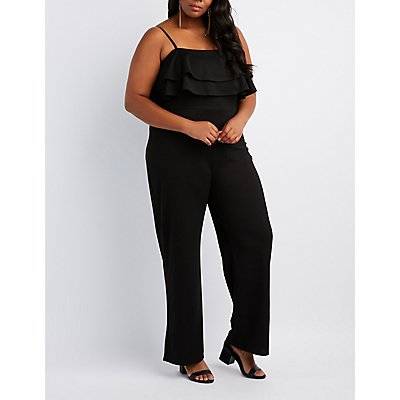 Plus Size Tiered Ruffle Jumpsuit