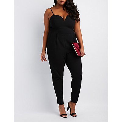 Plus Size Wired Notch Jumpsuit