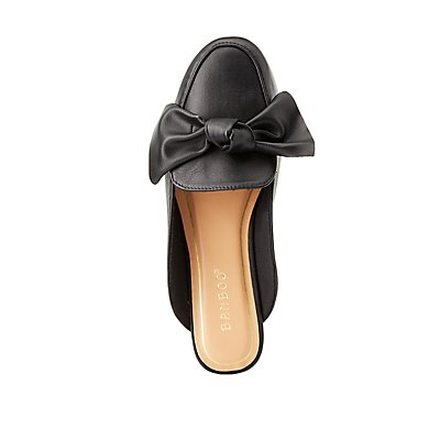 Bamboo Bow Loafer Mules