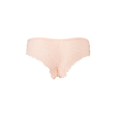 Scalloped Lace Caged Cheeky Panties