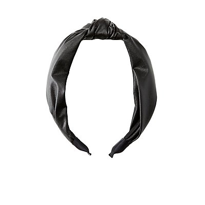 Faux Leather Headband