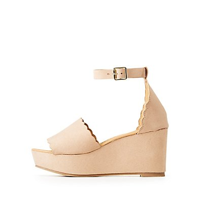 Ankle Strap Casual Scallop Sandals