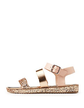 Bamboo Glitter Three-Piece Sandals