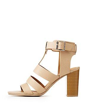 Caged Ankle Strap Dress Sandals