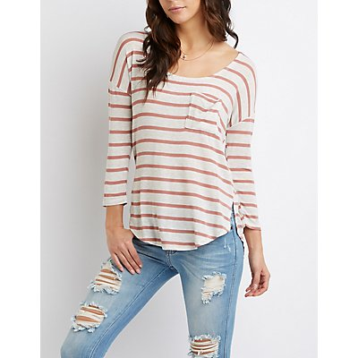 Striped Dolman Sleeve Tee