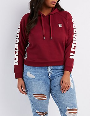 Plus Size Brooklyn Cropped Hoodie
