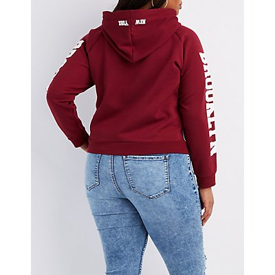 Plus Size Brooklyn Cropped Hoodie