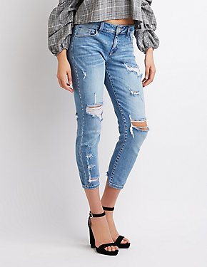 Refuge Crop Boyfriend Destroyed Jeans