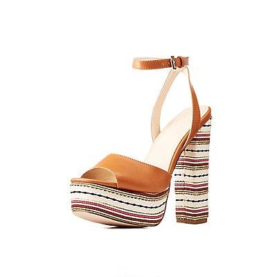 Platform Ankle Strap Sandals