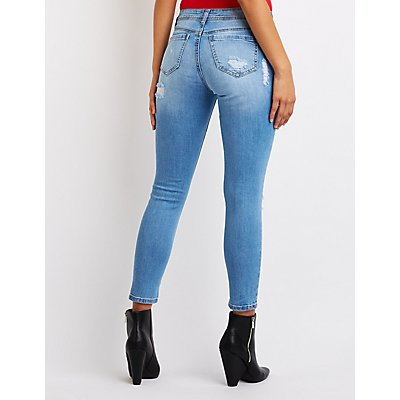 Refuge Destroyed Crop Skinny Jeans