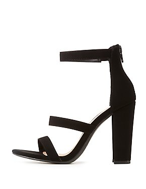 0bd5ae70bcb Faux Nubuck Ankle Strap Sandals