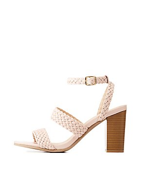 Braided Ankle Strap Sandals
