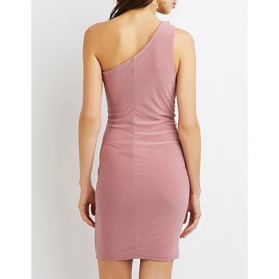 Cut-Out One-Shoulder Bodycon Dress