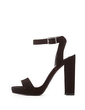 Faux Nubuck Two-Piece Sandals