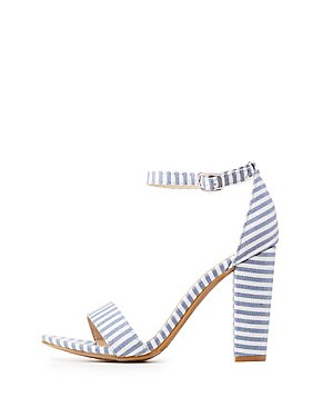 Bamboo Striped Two-Piece Sandals