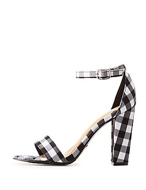 Bamboo Gingham Two-Piece Sandals