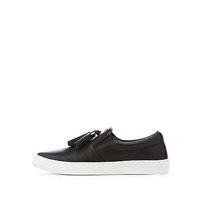 Tassel-Trim Slip-On Sneakers