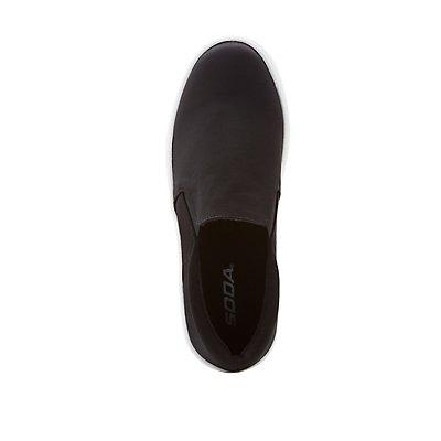 Satin Slip-On Platform Sneakers
