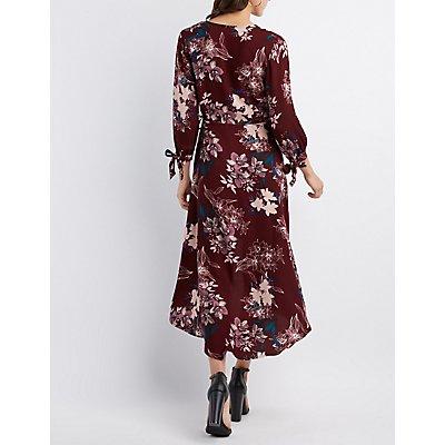 Floral Maxi Wrap Dress