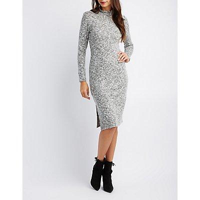 Mock Neck Knit Dress