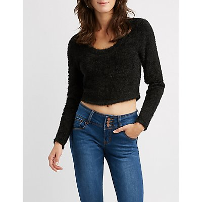 Fuzzy Fitted Crop Top