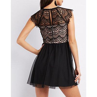 Crochet Lace Skater Dress