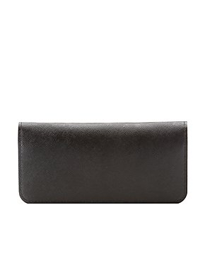 Faux Leather Snap Wallet