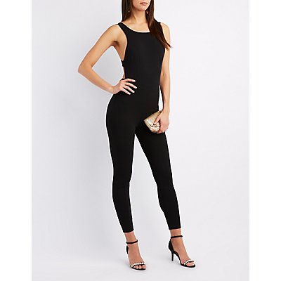 Strappy Open-Back Jumpsuit