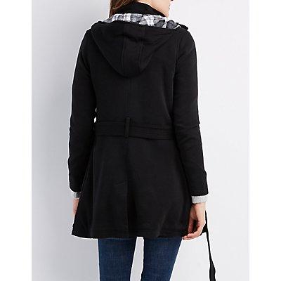 Fleece Belted Coat