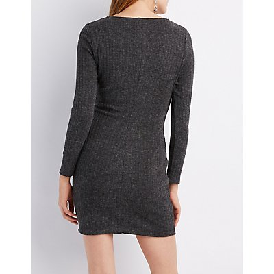 Knit Cut-Out Bodycon Dress