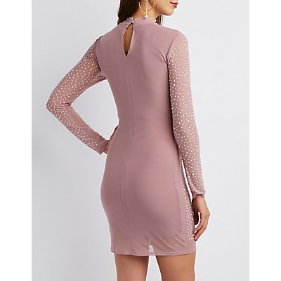 Crystal Mesh Bodycon Dress