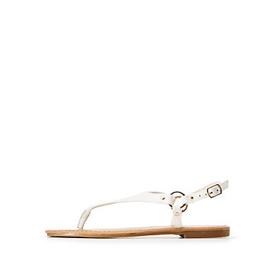 O Ring T-Strap Sandals