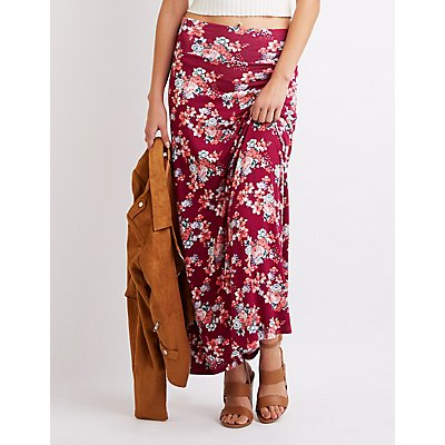 Floral Printed Maxi Skirt