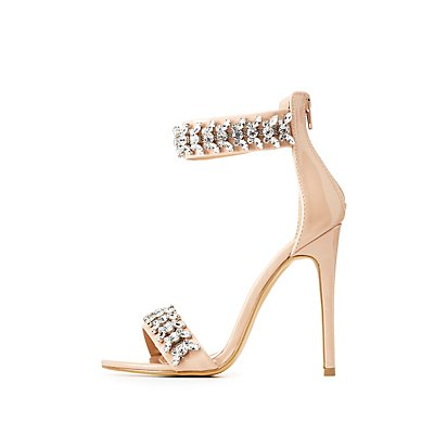 Embellished Ankle Strap Dress Sandals