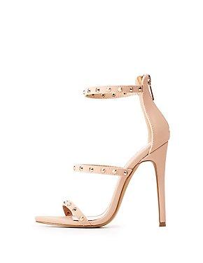 Studded Ankle Strap Sandals