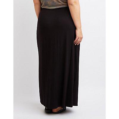 Plus Size Maxi Wrap Skirt