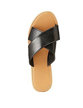 Cross Band Slide Sandals