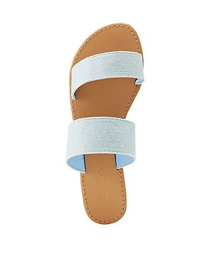 Denim Band Slide Sandals