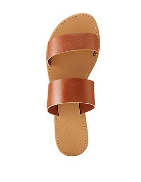 Faux Leather Band Sandals