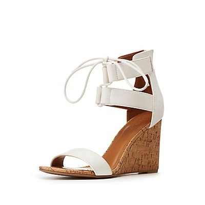 Lace-Up Ankle Strap Wedge Sandals