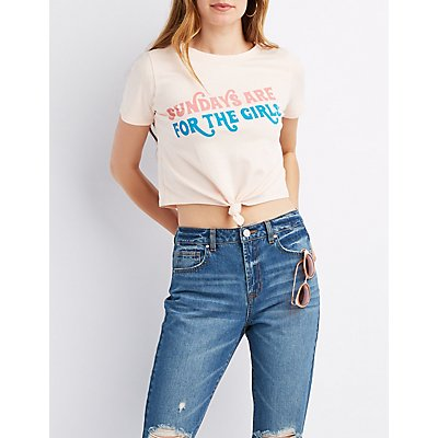Sundays Are For The Girls Crop Tee