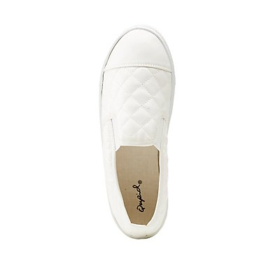 Bamboo Quilted Slip-On Sneakers