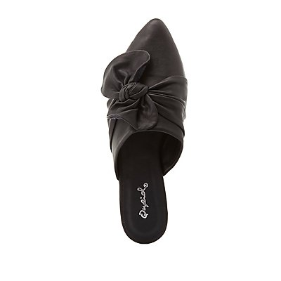 Qupid Knotted Slip-On Flats