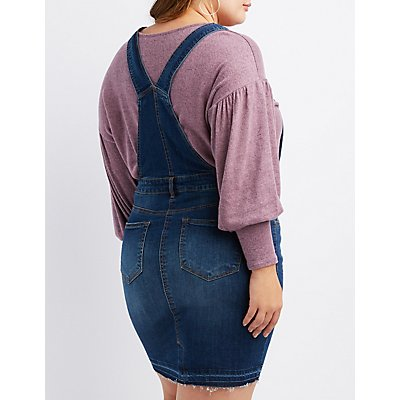 Plus Size Dollhouse Denim Overall Dress