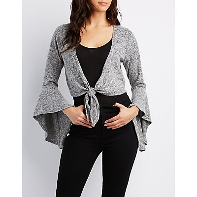 Bell Sleeves Wrap-Tie Top
