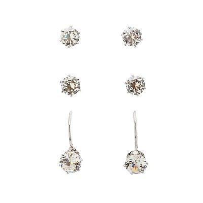 Embellished Stud & Drop Earrings - 3 Pack