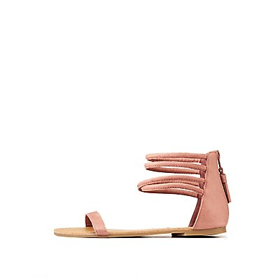 Strappy Ankle Wrap Flat Sandals