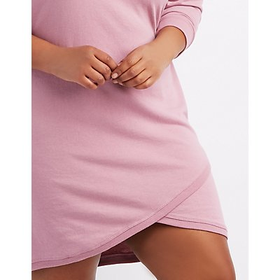 Plus Size Hoodie Sweatshirt Dress
