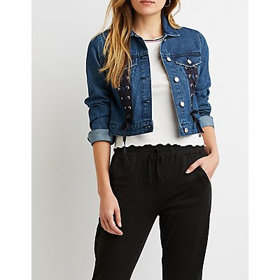 Refuge Lace-Up Denim Jacket