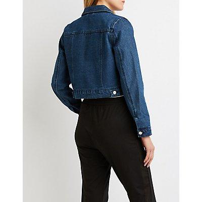 Refuge Lace-Up Denim Jacket